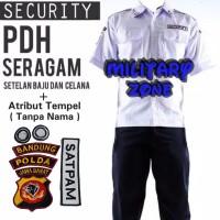 SERAGAM PDH SECURITY SETELAN + ATRIBUT TEMPEL (Tanpa Nama)