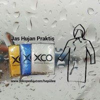 XCO Disposable Rain Coat - Jas Hujan Plastik All Size, Minimal 12 pc