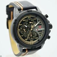 Jam tangan pria NAVIFORCE 9110 crono aktif tali kulit original