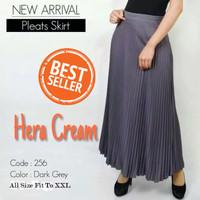 Rok Panjang Wanita Premium Rok Plisket Pleats Skirt Jumbo