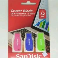 SanDisk 32GB Cruzer Blade Paket 3 pcs Flashdisk USB 2.0