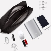 Tempat Tas Dompet Chager Case Pouch Adaptor Laptop - Abu (sizeL)