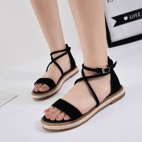 Harga terbatas women sandals 2018 new hot high quality flock summer | Pembandingharga.com