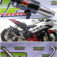 Knalpot Racing Akrapovic GP M1 Vixion/R15/XABRE/Byson/Scorpio/JupitMX