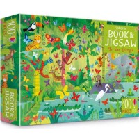 Usborne Puzzle Book and Jigsaw in the jungle 100 puzzle