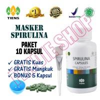 Masker Wajah Spirulina Tiens / Herbal Penghilang Jerawat / Pencerah