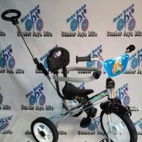 Sepeda anak Roda 3 stenlis dorongan, alas kaki & jagaan