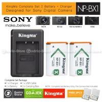 KingMa Paket Complete Baterai Charger Set NP-BX1 Sony RX100 HX400 Etc