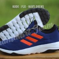 PROMO ! Sepatu Casual pria adidas cloudfoam TR superflex navy orens