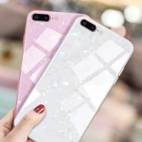 Iphone 8 PLUS Shiny Shell Diamond Glass Hard Case