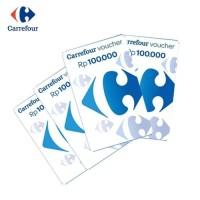 Voucher fisik Carrefour Nominal 1 juta pecahan @Rp 100.000