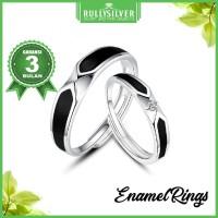 Promo Black Arrow Enamel White Gold Ring