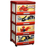 (Ojek Only) Lemari Plastik Napolly Spiderman S-4 / Laci Baju