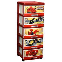 (Ojek Only) Lemari Plastik Napolly Spiderman S-5 / Laci Baju Napolly