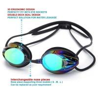 Kacamata renang dewasa Star Rainbow Anti Silau Fog Anti Uv Matahari