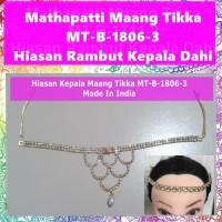 Mathapatti Maang Tikka MT-B-1806-3-Hiasan Rambut Kepala Dahi Headpiece