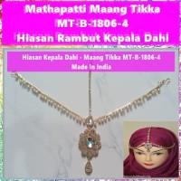 Mathapatti Maang Tikka MT-B-1806-4-Hiasan Rambut Kepala Dahi Headpiece