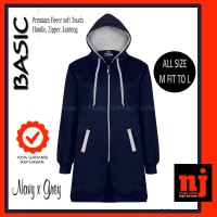 Original Hijacket Basic Navy x Grey Jaket Wanita Muslimah Hijabers