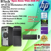 HP Z4 G4 Workstation - 3TR67PA Xeon W-2123/8GB/1TB/W10PRO/3YR PC ONLY
