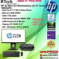 HP Z2 Mini G3 WorkStation - 1MD64PA Core i7-7700/8GB/1TB/W10PRO/3YR