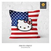 asli murah Sarung Bantal Kursi Motif Hello Kitty England - HK26
