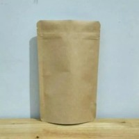 Standing Pouch Kraft Paper Kecil Aluminium Foil 9x15 cm Ecopack K-PACK