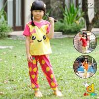Dessan Setelan Baju Anak Perempuan F&D Cutie Pineapple