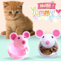 Mainan Kucing Bola Makanan Tumpah