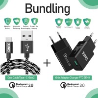 Bundling - Onix Adaptor Charger PTC-01 + PTC Gen 2 Usb Type C Cable
