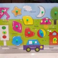 murah Mainan Edukasi Puzzle Kayu Knot Mencocokkan Untuk Belajar Anak