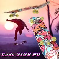 Skateboard Profesional Dewasa Adult Remaja XL Kayu Fullset 3108 PU