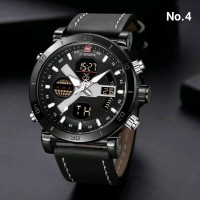 BARU Anti Air - Jam Tangan Pria Original Naviforce Leather Strap by