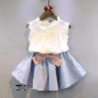 Harga setelan baju anak perempuan import dress cantik | Pembandingharga.com