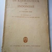 buku de rijstcultuur in indonesie,budaya beras,buku belanda lawas 1949