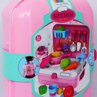Mainan Anak Masak masakan Kitchen Set Back Pack Ransel Bowa 24 pcs