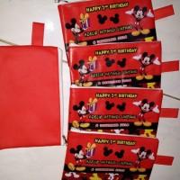 Dompet souvenir ultah anak micky mouse