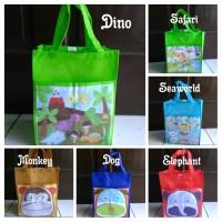 tas souvenir ultah/bingkisan/goodie bag animal spunbond printing murah