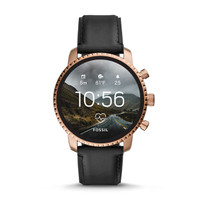 Fossil Smartwatch Q Explorist HR Gen 4 Black Leather (Pre Order)