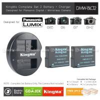 KingMa Paket Complete Baterai Charger Set DMW-BLC12 Lumix G6 G7 FZ Etc