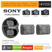 KingMa Paket Complete Baterai Charger Set NP-FZ100 Sony A7iii A9 Etc