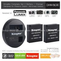 KingMa Paket Complete Baterai Charger Set DMW-BLG10 LUMIX GF5 GX7 Etc