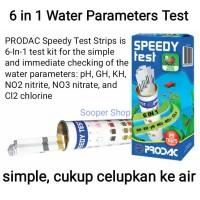 PRODAC Speedy Test 6 in 1 Water Testkit - Tes Kit pH GH KH NO2 NO3 Cl2