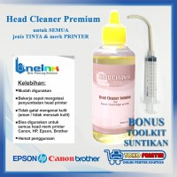 Head Cleaner Premium 100ml + BONUS Toolkit Suntikan Pembersih Head
