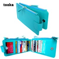 Card Pocket Wallet Lateen Kulit Serat toska