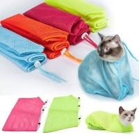 Cat Grooming restrain Bag Alat Mandi Tas Kantong Jaring Kucing