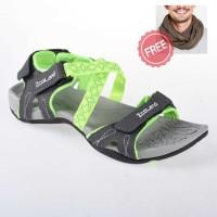 Sandal Lightouch Sport Green Free Scarf