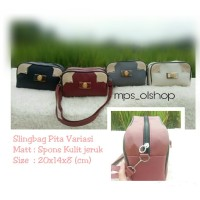 sling bag stripe pita variasi tas murah tas mini