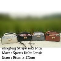 sling bag stripe mix pita tas murah tas mini