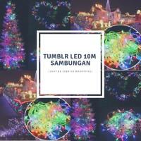 Lampu Tumblr Hias 10 Meter / Lampu Natal Hias Rainbow
