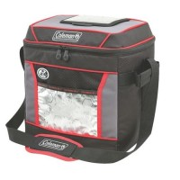 COLEMAN 30 CAN 12-HR SOFT COOLER (RED/BLACK)